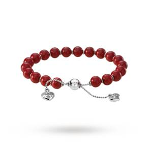 Gucci San Valentino Silver, Red Boule Bracelet