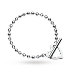 Gucci Toggle Heart Silver 17cm Bracelet