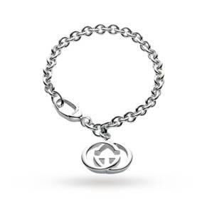 Gucci Britt Silver Double G 18cm Bracelet
