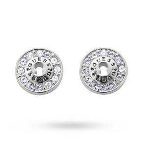 Guess Alloy Locked Up Stud Earrings