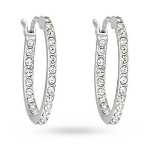 SWAROVSKI Crystal set Hoop Earrings
