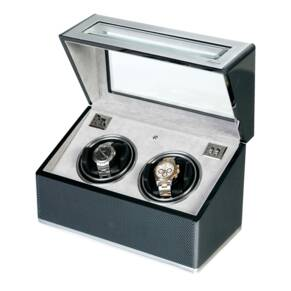 Rapport Duo Watch Winder in Carbon Fibre