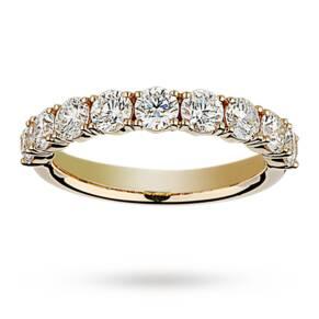 Brilliant cut 1.37 total carat weight diamond half eterni ...