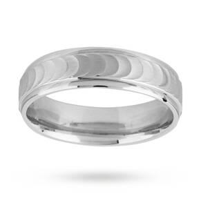 6mm gents ring in palladium 500