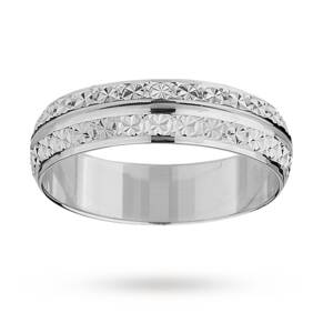 5mm ladies double row sparkling wedding band in 18 carat ...