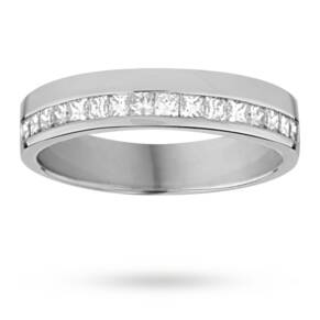 Princess cut 0.33 total carat weight diamond ladies weddi ...