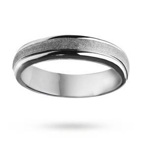 6mm polished wedding ring in cobalt