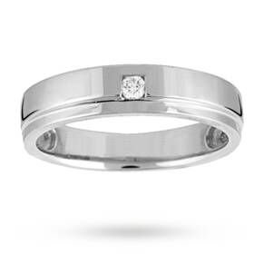 Ladies Diamond Set Wedding Ring In 18 Carat White Gold
