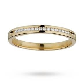 Ladies 0.08 total carat weight diamond 2mm wedding ring i ...
