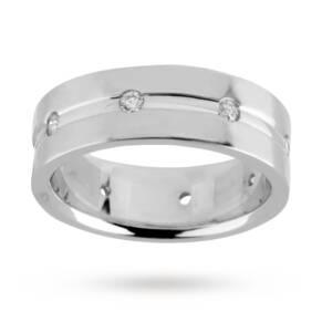 Gents 0.15 total carat weight diamond wedding ring in 18 ...