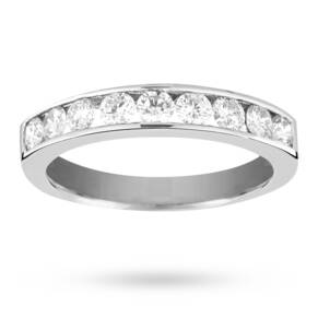 Brilliant cut 0.75 total carat weight 9 stone diamond ete ...