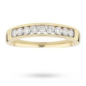 Brilliant cut 0.09 total carat weight diamond eternity ri ...