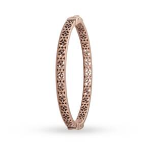 Fossil Iconic Gold Plated Engraved Bangle