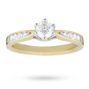 EXCLUSIVE - 0.33 carat total weight brilliant cut solitai ...