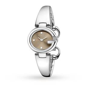 Gucci YA134503 Guccissima Stainless Steel Ladies Watch