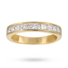 1.00 Total Carat Weight Princess Cut Diamond Eternity Rin ...