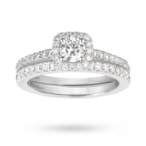 Vera Wang Love brilliant cut 0.95 total carat weight clus ...