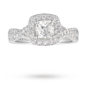 Vera Wang Love cushion cut 1.30 total carat weight solita ...
