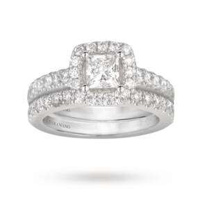 Vera Wang Love princess cut 1.95 total carat weight clust ...