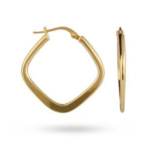 9ct Gold Square Hoop Earrings