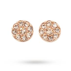 Fossil Iconic Glitz Rose Gold Plated Stud Earrings