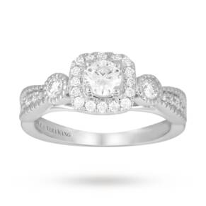 Vera Wang Love 0.70 carat total weight solitaire and diam ...