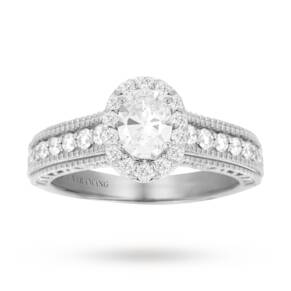 Vera Wang Love oval cut 0.95 carat total weight solitaire ...