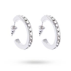 Karen Millen Small Crystal Hoop Earrings