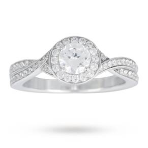 Canadian Ice Collection Brilliant Cut 0.90 Total Carat We ...