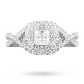 Canadian Diamond 1.09 carat total weight princess cut dia ...