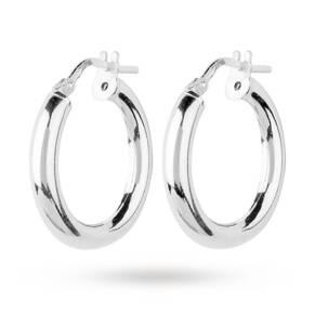 Small Italian Silver Hoop Earrings