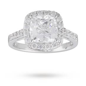 Cushion Cut Cubic Zirconia Cocktail Ring in Sterling Silver