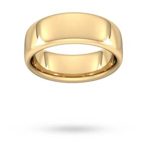 8mm Slight Court Extra Heavy Wedding Ring In 18 Carat Yellow Gold - Ring Size Q
