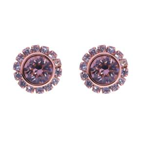Ted Baker Rose Gold Coloured Sully Rose Swarovski Crystal Cupchain Stud Earrings