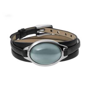Skagen Sea Glass Leather Strap Bracelet