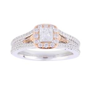 Vera Wang Love Princess Cut 0.95 Total Carat Weight Solit ...