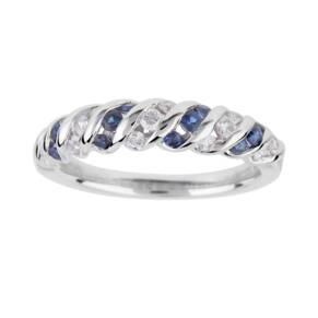 Vera Wang Love Diamond and Sapphire Eternity in 18 Carat ...