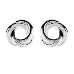 Italian Silver Open Knot Earrings