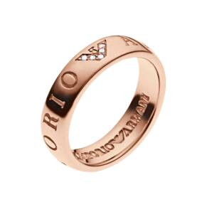 Emporio Armani Brand Slim Rose Gold Plated Ring