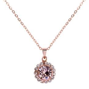 Ted Baker Rose Coloured Sela Pink Swarovski Crystal Chain Pendant