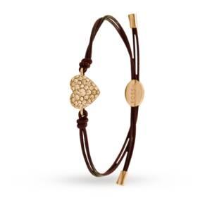 Fossil Rose Glitz Heart Friendship Bracelet