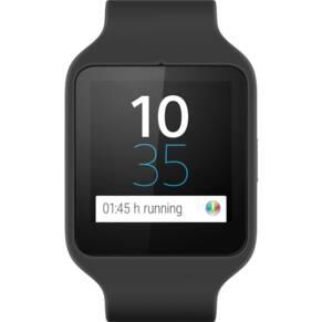 Sony Unisex Smartwatch 3 Black Bluetooth Alarm Chronograph Watch