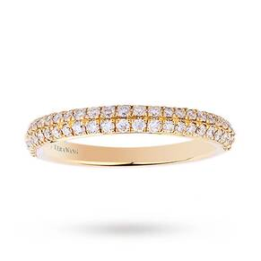 Vera Wang Love 0.38 Carat Total Weight Brilliant Cut 2 Ro ...
